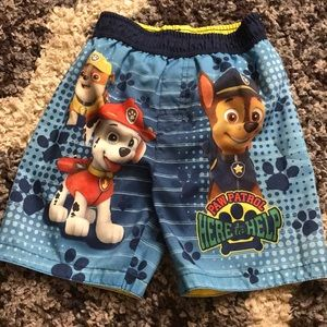 FREE with purchase paw patrol 4t swim shorts